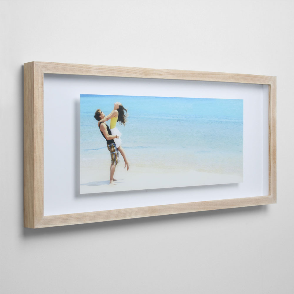 85x11 double panel wall mounted floating acrylic picture ...