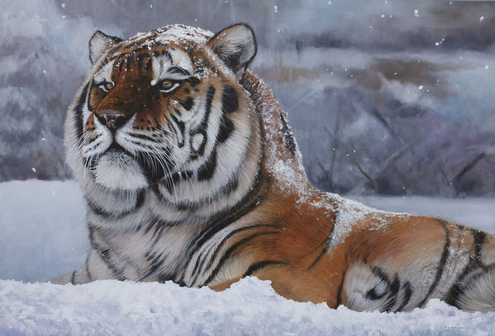 Wildlife artist Pip McGarry roars into Odiham for another sell-out ...